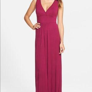 Loveapella V-Neck Jersey Maxi Dress